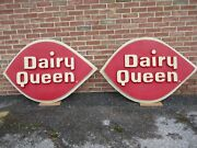 Vintage Dairy Queen Sign Outside Store Large 4 Feet 6 X 3 Feet Circa 1960