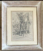 Super Rare Artist Sears Gallagher Signed Framed Etching Collectible Wall Art