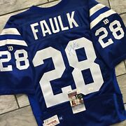 1994 Wilson Nfl Team Issued Jersey Indianapolis Colts Marshall Faulk Autograph