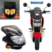 12v 35w Universal Motorcycle Dirt Bike Headlamp Assembly With Turn Signal Light