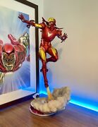 Iron Man Statue By Side Show Extremis Mark Ii - Exclusive - Not Xm Hot Toys