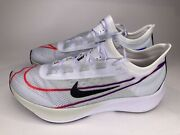 Nike Air Zoom Fly 3 Vaporweave Running Shoes At8241 102 White Black Red Menandrsquos 10