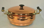 New Coppercraft Guild Casserole Pyrex Dish Footed Holder + Copper Lid