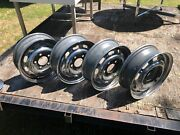 Lot Of 4 Lemmerz 4.5x15 Vintage Porsche 912 911 Wheels