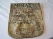 Mckay Tire Multi-grip Chain Bag 1932-1940 Rat Rod Street Vintage Hot Chevy Ford
