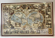 Sealed Vtg Fx Schmid Jigsaw Puzzle Antique World Map 1500 Pc West Germany