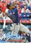 2018 Topps Holiday Ronald Acuna Jr. Hmw50 Rookie Card Rc