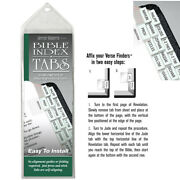 Verse Finders Bible Index Tabs Book Dividers Labels Slim Silver Bible Tabs New