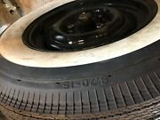 1955-1956 Thunderbird 4 Croker Wide White Tires 6.70-15 With Ford Road Wheels