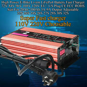 2a-9a 72v 84v 96v 120v High Power E-bike Li-ion Lifepo4 Battery Fast Charger New