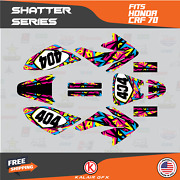 Graphics Kit For Honda Crf70 All Years Crf 70 Crf-70 Shatter-yellow
