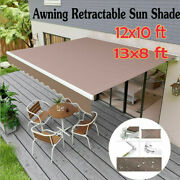 Outdoor Sun Shade Shelter Patio Awning Canopy Retractable Deck Cafe Backyard Us.