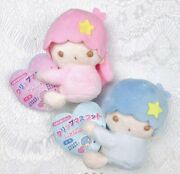 Sanrio Little Twin Stars Side Clip Two Plush Mascots For Car Mirrors From Japan