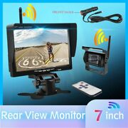 New 7vehicle Rear View Monitor Wireless Back Up Camera Truck Rv Trailer Camper