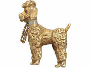 18ct Yellow Gold And039poodleand039 Brooch - Vintage Circa 1960