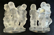 Lalique Pair Of Luxembourg Cherub Bookends