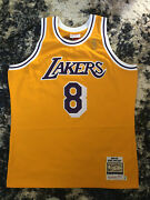 100 Authentic Kobe Bryant Mitchell And Ness 96 97 Lakers Jersey Size 48 Xl Mens