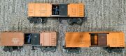 Lionel Boxcar Atandsf 63132 And 63132, Nyc 159000 Lot Of 3