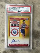 2019-20 Contenders Matisse Thybulle Gold Prizm Rookie Ticket Auto /10 Psa 9