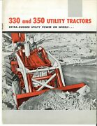 Ih International 330 And 350 Utility Tractor And Implement Brochure Loader Backhoe
