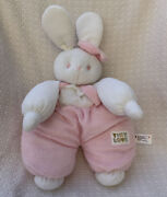 Vintage Terry Cloth Tiny Love Plush White Pink Bunny Rabbit 1992 16andrdquo