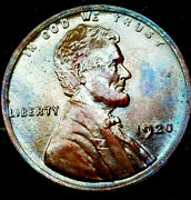 Wow 1920 P Lincoln Wheat Penny Cent- Beautiful Toning Superb Gem Ms++ 03