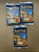 1999 Pokemon Factory Sealed Base Set Lot Of 3 Charizard Art Booster Not Weighed