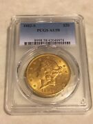1882-s Au58 Pcgs Liberty Double Eagle 20 Gold Coin Great Appeal Lustrous