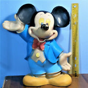 Large Mickey Mouse Walt Disney Productions 1 Edition Rubber Toy Doll Biserka Art