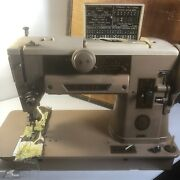 Singer 401a Sewing Machine Slantomatic W Accessories. Fully Tested Lot