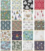 Ambesonne Christmas Microfiber Fabric By The Yard For Arts And Crafts