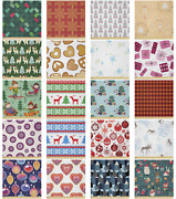Ambesonne Christmas Print Microfiber Fabric By The Yard For Arts And Crafts