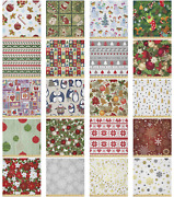 Ambesonne Christmas Theme Microfiber Fabric By The Yard For Arts And Crafts
