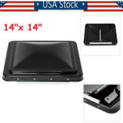 14x14 Black Rv Roof Vent Cover Replacement Lid Motorhome For Camper Rv Trailer