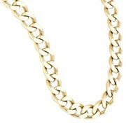 9carat Yellow Gold 20.5 Curb Chain/ Necklace 7mm Wide