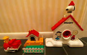 Vintage Snoopy And Peanuts Items - Partial Train Set And 1975 Sno-cones Maker