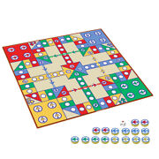 1 Set Flying Chess Leisure Playmat Aeroplane Chess Rug Entertainment Party Game