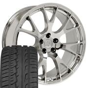 22 Chrome Wheels And 285/45r22 Tires Fit Dodge Ram 1500 Hellcat