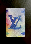 Brand New🔥sold Out🔥louis Vuitton Pocket Organizer Watercolor Collection M80456