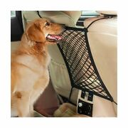 Autown Dogs Pet Barriers Universal Stretchy Car Seat Storage Mesh Nets 14×15.8