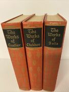The Works Of Anton Chekhov Volume 1 Edition Emilie Zola Theophile 1928-1929 Lot3