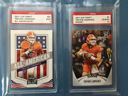 Rare Rookie Lot Trevor Lawrence 2021 Leaf Draft Graded 10 And 9 Rookie Card