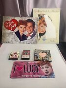 Vintage Lot Lucille Ball I Love Lucy Items Tin Signs License Plate Cassette Tape