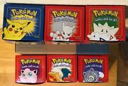 Complete Set Of 6 23k Pokemon Gold Card And Pokeball 1999 Burger King New/mib