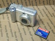 Canon Powershot A75 3.2 Mp Digital Camera Pc1202 Card Tested Excellent