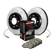 For Mercedes-benz 190e 87-93 Stoptech Sport Slotted 1-piece Front Brake Kit