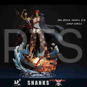 Pt Studio One Piece Red Hair Shanks Resin Statue Pre-order 1/6 Scale Led Light