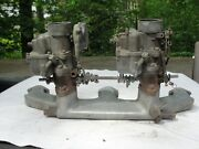 Rare Edmunds Aluminum Intake 1937-52 Chevrolet 216 235 Six Cylinder With Carbs.