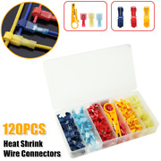 120×heat Shrink Wire Connectors Wire Clips Nylon Marine Electrical Terminals Kit
