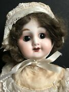 """Rare Vintage 14.5"""" French Reproduction Of Antique Doll 60 Rue Mazarine"""